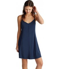 vestido jersey 100 % algodón azul marino esprit