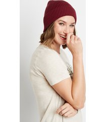 maurices womens burgundy cuffed beanie red