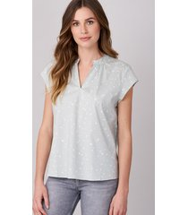 blouse met korte mouwen en hartjesprint