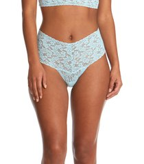 women's hanky panky retro high waist thong, size one size - blue