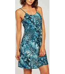 icollection ultra soft print chemise nightgown, online only