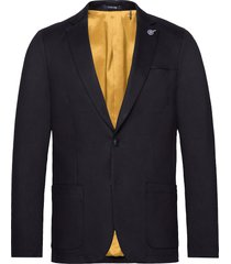 ams blauw stretch denim blazer blazer kavaj blå scotch & soda
