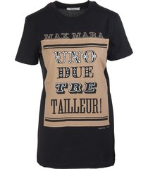 max mara black polo t-shirt