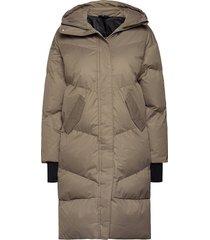 city trekker jacket gevoerde lange jas groen röhnisch