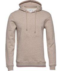 embossed encore hoodie hoodie trui beige les deux