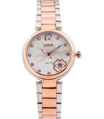 reloj loix ref l1153-03 plata/rosa