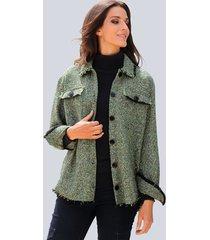 jas alba moda groen::zwart