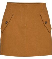 ivalu skirt 11404 kort kjol brun samsøe samsøe