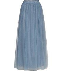 vizamara hw maxi skirt/dc lång kjol blå vila