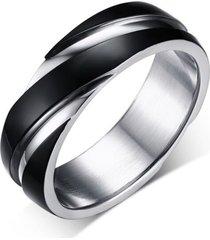 anillo acero inoxidable parejas compromiso r-057 negro