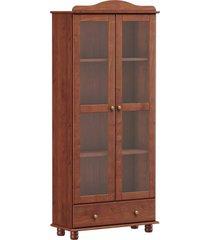 cristaleira vitrine 2 portas 1 gaveta finestra linha rubi