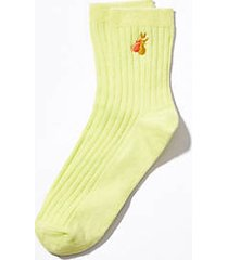 lou & grey embroidered pear socks
