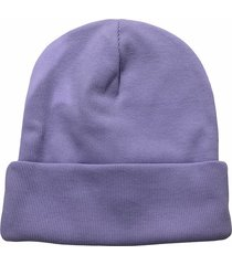 bawełniana czapka beanie fiolet