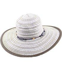 sombrero ala ancha cuentas de madera almacen de paris