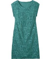intarsia jurk kort, smaragdgroen 38