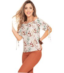 blusa adulto femenino estampado de flores marketing  personal