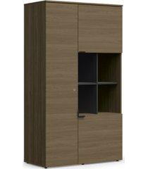 armário alto de escritório kappesberg f209 3 portas carvalho munique