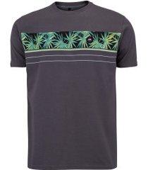 camiseta hd estampada noctur garden 6251b - masculina - cinza escuro