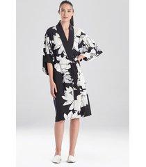 natori lotus sleep & lounge bath wrap robe, women's, size l natori