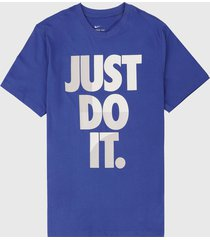 camiseta azul-blanco nike nsw jdi m