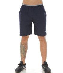 pantaloneta deportiva color azul oscuro para hombre
