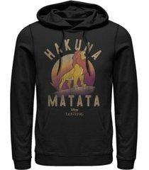 disney men's lion king simba hakuna matata, pullover hoodie