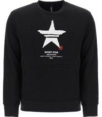 neil barrett sport star print sweatshirt