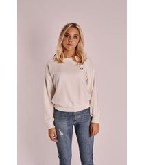 buzo blanco armand bleu wide sweatshirt