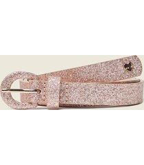 motivi cintura sottile glitter donna rosa