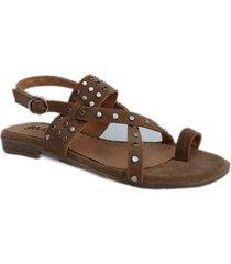 sandalia marrón omm amorosa