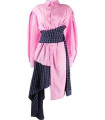 asymmetric wrap-around shirt dress