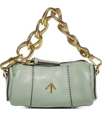 manu atelier cylinder micro leather shoulder bag
