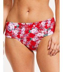 santa monica floral fold bikini brief