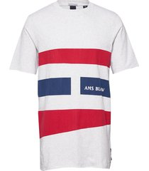 graphic tee with raw edges t-shirts short-sleeved multi/mönstrad scotch & soda