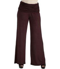 24seven comfort apparel women foldover palazzo pants