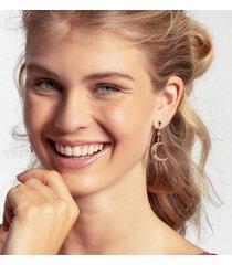 thomas sabo women's royalty star and moon drop earrings - multicoloured