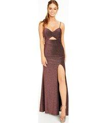 teeze me juniors' cutout glitter gown