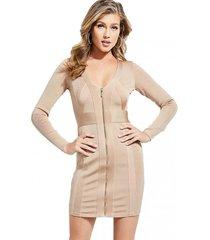 vestido plunging vneck mirage dress crema guess