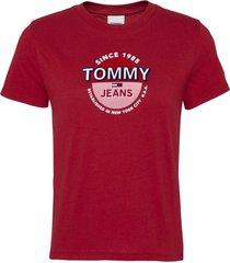 polera circle logo rojo tommy jeans