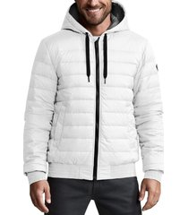 men's canada goose sydney packable down hoodie, size small - white