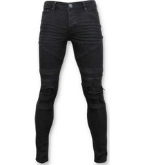 exclusieve biker jeans ripped 3029-2