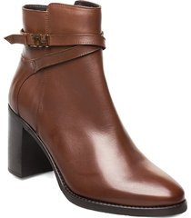 th hardware leather high boot shoes boots ankle boots ankle boots with heel brun tommy hilfiger