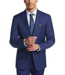tommy hilfiger blue windowpane plaid slim fit suit
