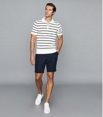 reiss nantucket - linen blend tailored shorts in navy, mens, size 36