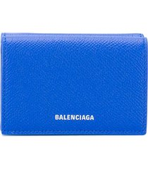 balenciaga ville mini wallet - blue
