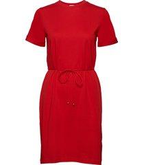 crew neck t-shirt dress kort klänning röd filippa k