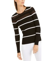 inc illusion striped pullover sweater, created for macy's