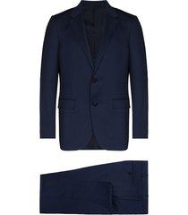 ermenegildo zegna drop 7 two-piece wool suit - blue