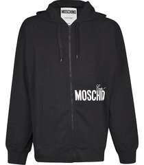 moschino oversized couture zipped hoodie