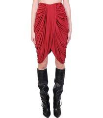 isabel marant dotina skirt in red viscose